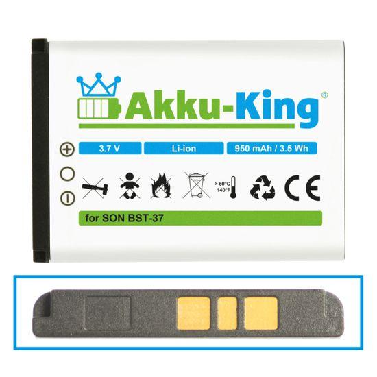 Akku-King Akku ersetzt Sony-Ericsson BST-37 - Li-Ion 1700mAh - für Sony-Ericsson D750i, J100i, J110i, J120i, J220i, J230i, K200i, K220i, K600i, K608i