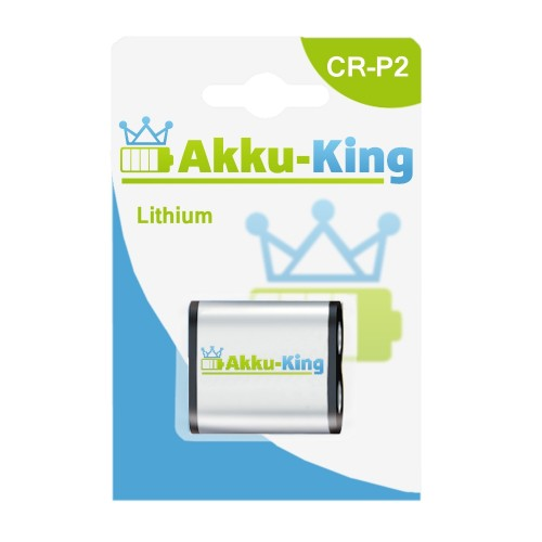 Akku-King Lithium CR-P2, DL223A, K223LA, EL223AP, Battery, PRCRP2 Foto-Batterie mit 1600mAh