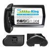 Akku-King Akku kompatibel mit Canon LP-E4 Li-Ion - 2600mAh mit Samsung Zellen - für EOS 1D Mark III, 1D Mark IV ( EOS-1D X dieses Modell ohne Restlaufzeitangabe) 001