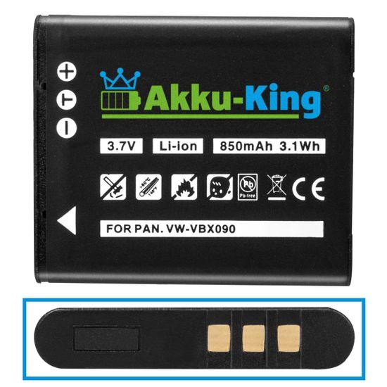 Akku-King Akku kompatibel mit Olympus LI-50B, Pentax D-Li92, Ricoh DB-100, LB-050 - Li-Ion 850mAh - für mju 1010 1020 1030 Traveller SH-21 SZ-14 Tough TG-620
