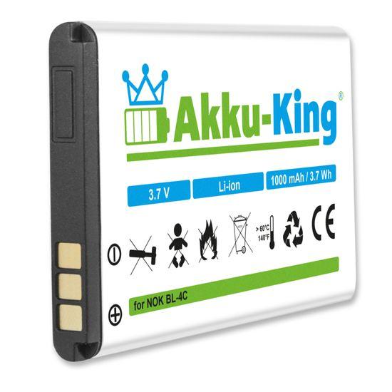 Akku-King Akku kompatibel mit Nokia BL-4C - Li-Ion - für 6260, 6300, 6300i, 6301, 6066, 7200, 7270