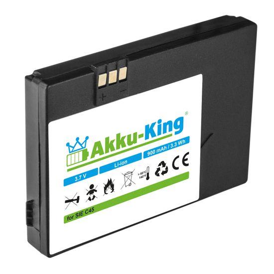 Akku-King Akku Li-Ion kompatibel mit Siemens A50 C45 M45 M46 M50 MT50 ersetzt V30145-K1310-X213