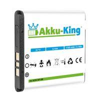 Akku kompatibel mit Nokia BP-6M - Li-Ion - für 9300, 3250, 6151, 6161, 6233, 6280, 6288, 9300i, N73, N77, N93