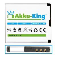 Akku kompatibel mit Nokia BL-5F - für N95 N95 N96 N93i E62 E65 6290, 6210 Navigator X501