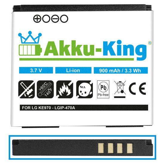 Akku kompatibel mit LG LGIP-470A, SPPL00857 - Li-Ion 900mAh - für KE970 Shine, KG70, KU970, Venus KF600, Secret KF750