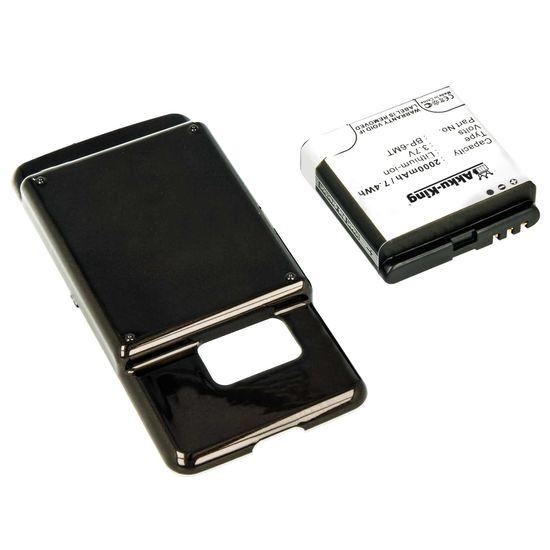 Akku-King Akku kompatibel mit Nokia BP-6MT 2000mAh - Li-Ion  - für N81, N81 8GB extended schwarz