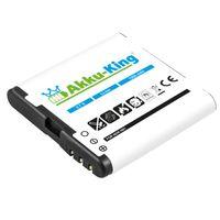 Akku-King Akku ersetzt Nokia BP-6MT - 1200 mAh - für 6720 classic, E51, N81, N81 8GB, N82 - Li-Ion