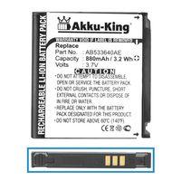 Akku kompatibel mit Samsung AB533640C, AB533640AE, AB533640CE, CU - Li-Ion 880mAh - für SGH-G600 J400 F330 G400 Soul S3600 - Li-Ion