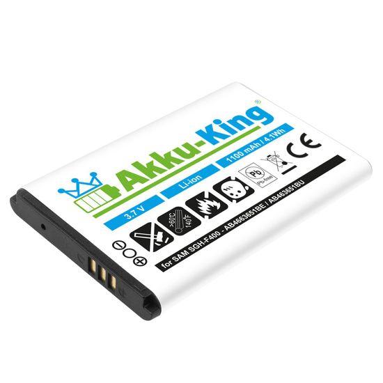 Akku kompatibel mit Samsung AB463651BE, BU - Li-Ion - für SGHF400 J800 L700 M7600 P260 S7220 ZV60, Armani