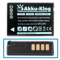 Akku kompatibel mit Panasonic DMW-BCG10E - Li-Ion 950mAh - Lumix TZ6, TZ7, TZ8, TZ10, TZ18, TZ22, TZ25, TZ31, TZ36, ZX1, ZX3