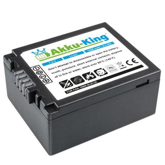 Akku-King Akku kompatibel mit Panasonic DMW-BLB13, DMW-BLB13E, DMW-BLB13PP - Li-Ion 1250mAh - für DMC-G1, DMC-G2, DMC-G10, DMC-GF1, DMC-GH1