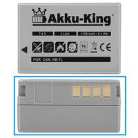 Akku-King Akku ersetzt Canon NB-7L Li-Ion 1100mAh - für PowerShot G10, G11, G12, SX30 IS, 3153B001