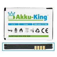 Akku kompatibel mit Motorola BT50, BQ50 - Li-Ion 1000mAh - für W156, W180, W205, W208, W218, W220, W230, W375, W377, W510