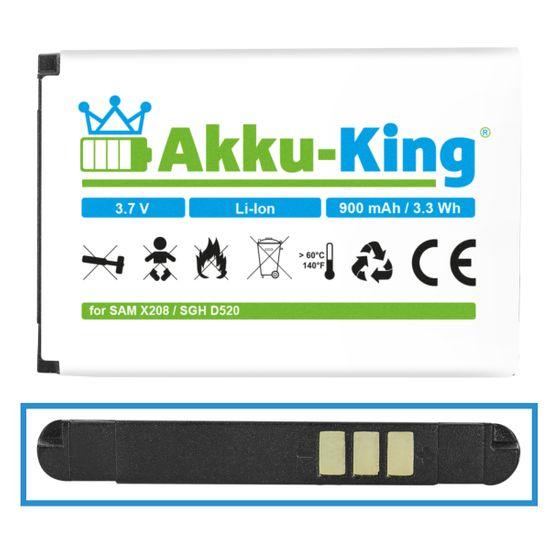 Akku kompatibel mit Samsung BST3108BE Li-Ion - für SGH-D520 C520 C3750 D520 D720 E420 E500 E900 E1080W E1190 M150