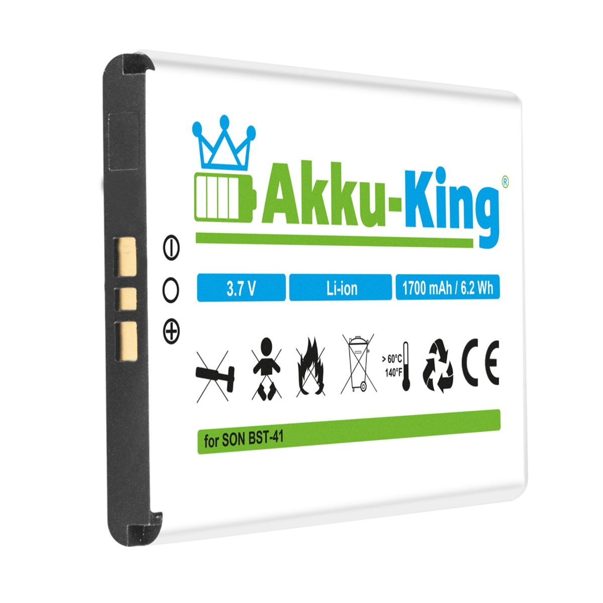 Akku king akku ersetzt sony ericsson bst 41 ep700 li for Aspen x2