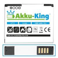 Akku-King Akku ersetzt HTC POLA160 35H00101-00M - 1400 mAh - für P3350, Touch, Polaric, O2 XDA Orbit 2, Orbit II, Dopod P860 - Li-Ion