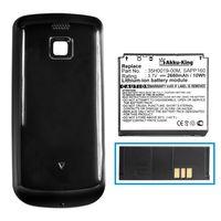 Power-Akku kompatibel mit HTC Magic, A6161, Sapphire, Vodafone Google G2, T-Mobile MyTouch 3G - ersetzt 35H00119-00M, BA S350 - Li-Ion 2680mAh - mit Akkudeckel schwarz