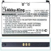 Akku-King Akku kompatibel mit Palm 3443W, A5627, 157-10119-00, BP1 slim - Li-Ion 1200mAh - für Pre, Treo Pre, Pre Plus, Pre 2