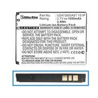 Akku-King Akku ersetzt Acer US473850A8T 1S1P, A7BTA040H, BT.00107.005 - 1050mAh - für C1, E1, E100, E100, beTouch E100 - Li-Ion