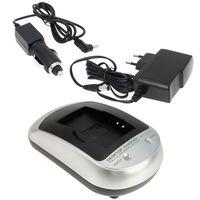 Ladegerät 5101 kompatibel mit JVC BN-V408, BN-V408-H, BN-V408U, BN-V408U-B, BN-V408US, BN-V408, BN-V428U, BN-V428 - inkl. KFZ-Adapter