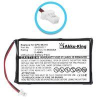 Akku-King Akku ersetzt Tomtom Q6000021 - Li-Ion 650mAh - für Tomtom GPS-9821X, GPS-9821X PDA/Handhelds