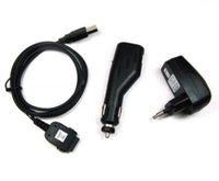 3er Set (Kfz-Ladekabel/Ladegerät/Datenkabel) für Dell Axim X50, X50v, X51, X51v