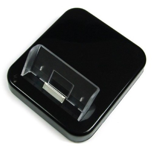 usb dockingstation f r iphone 4 schwarz audio out handy. Black Bedroom Furniture Sets. Home Design Ideas