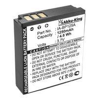 Akku-King Akku ersetzt Samsung IA-BP125A - Li-Ion 1250mAh - für HMX-M20, HMX-Q10, HMX-T10
