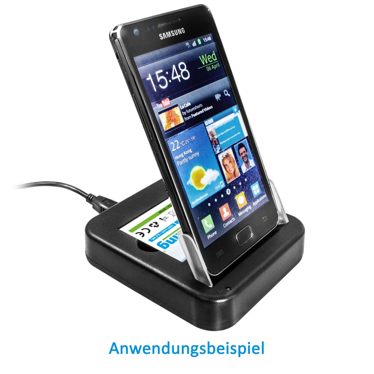 usb dockingstation akku ladeger t f r samsung galaxy s 2 ii i9100 handy smartphone. Black Bedroom Furniture Sets. Home Design Ideas