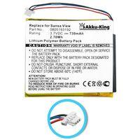 Akku kompatibel mit Sandisk 805193192 - Li-Polymer 730mAh - für Sansa View 8GB, 16GB, 32GB SMDX10R