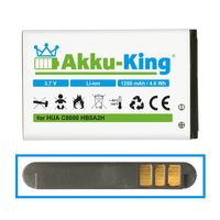Akku-King Akku ersetzt Huawei HB5A2H - Li-Ion 1250mAh - für C8000, E5805, M228, M750, U7519, U8110, U8500, T-Mobile Tap, Pulse Mini