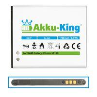 Akku kompatibel mit Samsung EB-425161LU - Li-Ion 1700mAh - für Galaxy S3 mini i8190, Ace 2, GT-I8160, i8190n, Duos S7562, S7580, Exhibit, Trend II