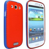 TPU Silicon Case für Samsung Galaxy S3 GT-i9300 - Gel Mesh - Rot, Blau