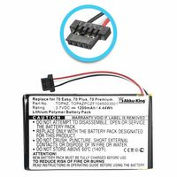 Akku kompatibel mit Navigon TOPAZPCZF1045003501 - Li-Polymer 1200mAh - für 70 Easy, 70 Plus, 70 Premium