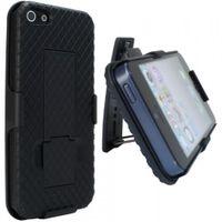Hardcase, Schutzhülle mit Ständer für iPhone 5 - Schwarz