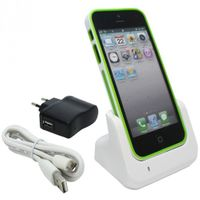 USB-Dockingstation, Ladestation für iPhone 5 - weiß – Bild 1