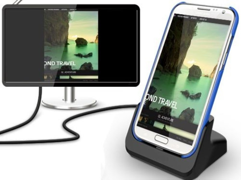 Multimediastation mit HDMI-Ausgang für Samsung Galaxy Note 2 N7100 ( Ladestation, Dockingstation ) - schwarz Bild 6