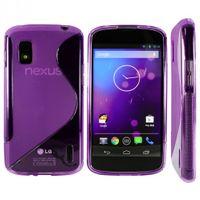 Schutzhülle TPU Hard Case für Google Nexus 4, LG E960 Mako - S Optik - Transparent Lila, Violett