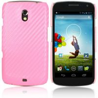 Carbon Fiber Hard Case für Samsung Galaxy Nexus i9250 - Pink