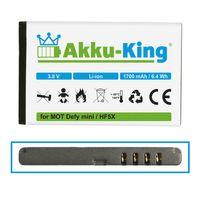 Akku-King Akku ersetzt Motorola HF5X Li-Ion 1700mAh - für Defy mini, Defy plus