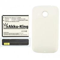Power-Akku kompatibel mit HTC BA-S850, BL01100, 35H00194-00M Li-Ion 2200mAh inkl. Akkudeckel weiß - für Desire C, A320, A320E