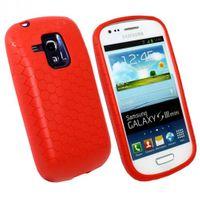 Schutzhülle für Power Akku Samsung Galaxy S3 mini GT-i8190 - Rot