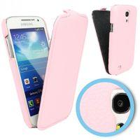 Flip Case Tasche (Kunstleder) für Samsung Galaxy S4 mini i9190 i9192 i9195 - Pink, Rosa