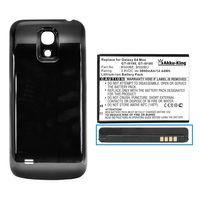 Power-Akku kompatibel mit Samsung EB-B500BE, EB-B500BU - 3800 mAh Li-Ion Akkudeckel schwarz - für Galaxy S4 mini, S4 mini LTE, i9190, i9195