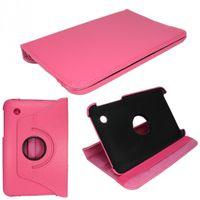 Drehbare Tasche (Kunstleder) für Samsung Galaxy Tab 2 7.0 P3100, P3110 - Rosa