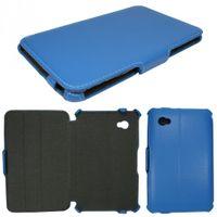 Edle Tasche (Kunstleder) für Samsung Galaxy Tab 7.0 Plus P6200, P6210, Tab 2 7.0 P3100, P3110 - Blau