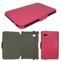 Edle Tasche (Kunstleder) für Samsung Galaxy Tab 7.0 Plus P6200, Galaxy Tab 2 7.0 P3100 - Rosa