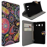 Edle Tasche (Kunstleder) Bookstyle Case mit Ständer für Huawei Ascend G510 U8951 - Colorized