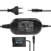 Netzteil mit Akkuadapter für Panasonic Lumix DMC-GF2 / DMC-G3 - ersetzt DMW-DCC9, DMW-DCC9E, DMW-AC8, DMW-AC8EG - 8,4V 2A