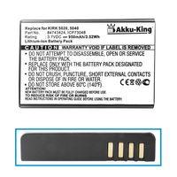 Akku-King Akku kompatibel mit AGFEO Dect 50 Polycom 5020 5040, KIRK 5020 5040, Spectralink 5020 5040 - ersetzt 84743424, ICP73048 - Li-Ion 950mAh